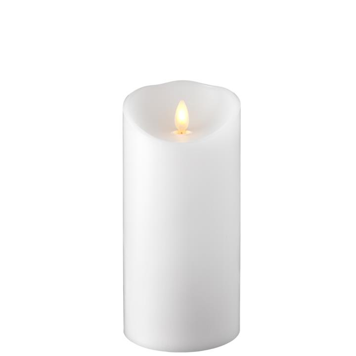 Moving Flame Candle with Timer 3.5' x 7' - White