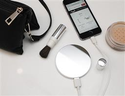 POWER BANK MIRROR ROUND / WHITE