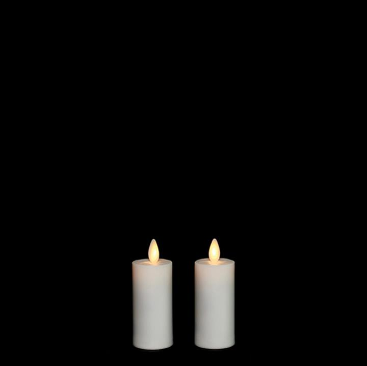 Moving Flame Candle with Timer 1.5'x3' Votive Set