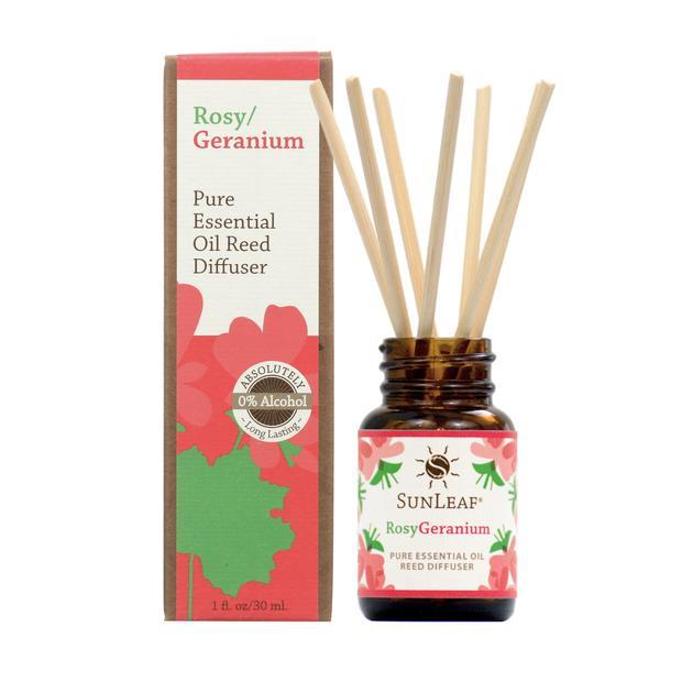 Rosy Geranium Essential Oil Reed Diffuser - 1 oz