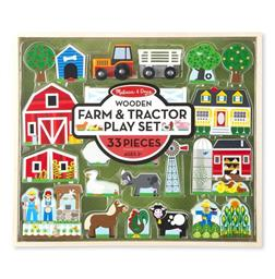 Wooden Farm & Tractor Play Set