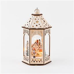 Lighted Alpine Scene Lantern