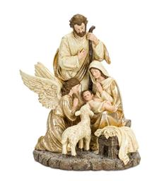 Holy Family with Angel & Lamb 15'
