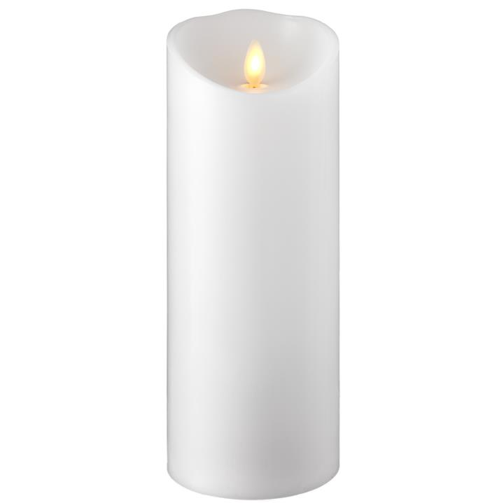 Moving Flame Candle with Timer 3.5'x9' Pillar