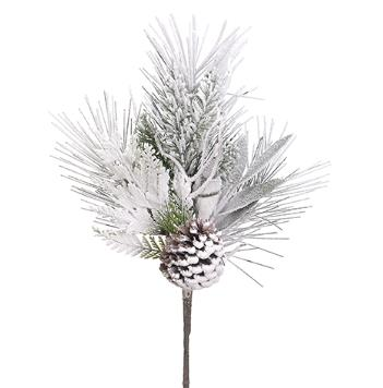 Snow Flocked Pine Cone Spray