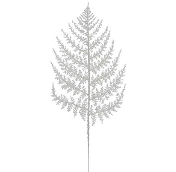 Snowed Fern - White