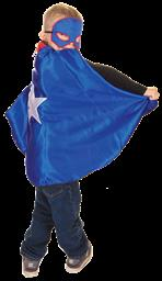 Reversible Metal Man Vs Superhero Cape and Mask Size 5-6