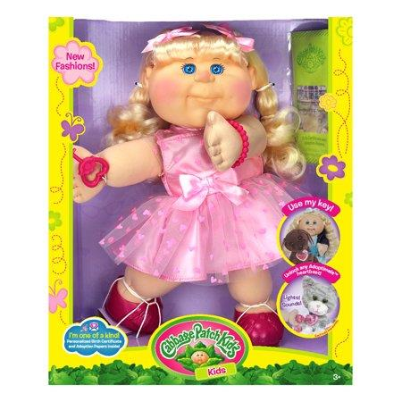 Cabbage Patch Kids 14' Blonde Pink Heart Dress
