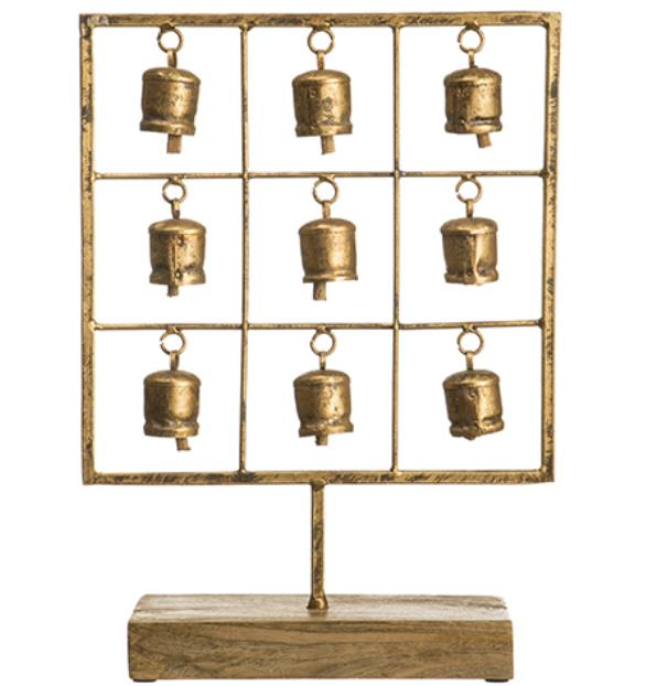 Metal Bell Decor - Gold
