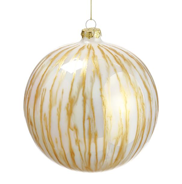 Gold and Cream Glass Ball Ornament - 6'