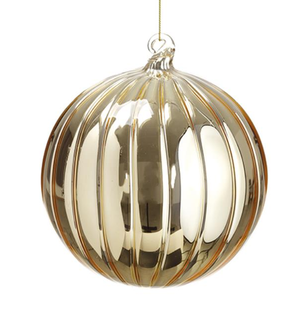 Gold Glass Ball Ornament - 6'