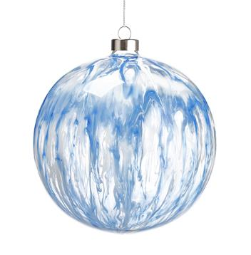 Blue and White Glass Ornament - 6'