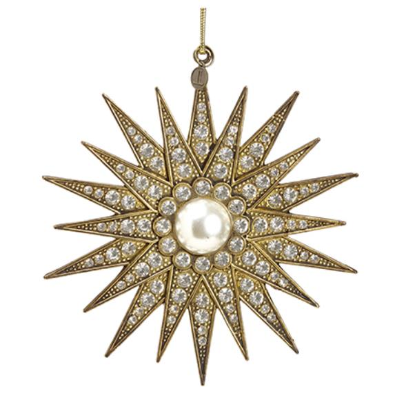 Gold Rhinestone Star Ornament - 5.5'