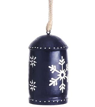 Blue Snowflake Bell Ornament - 6'