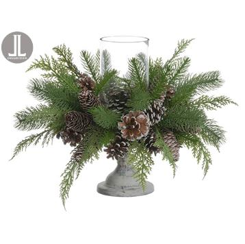 Pine Cone Centerpiece Candle Holder
