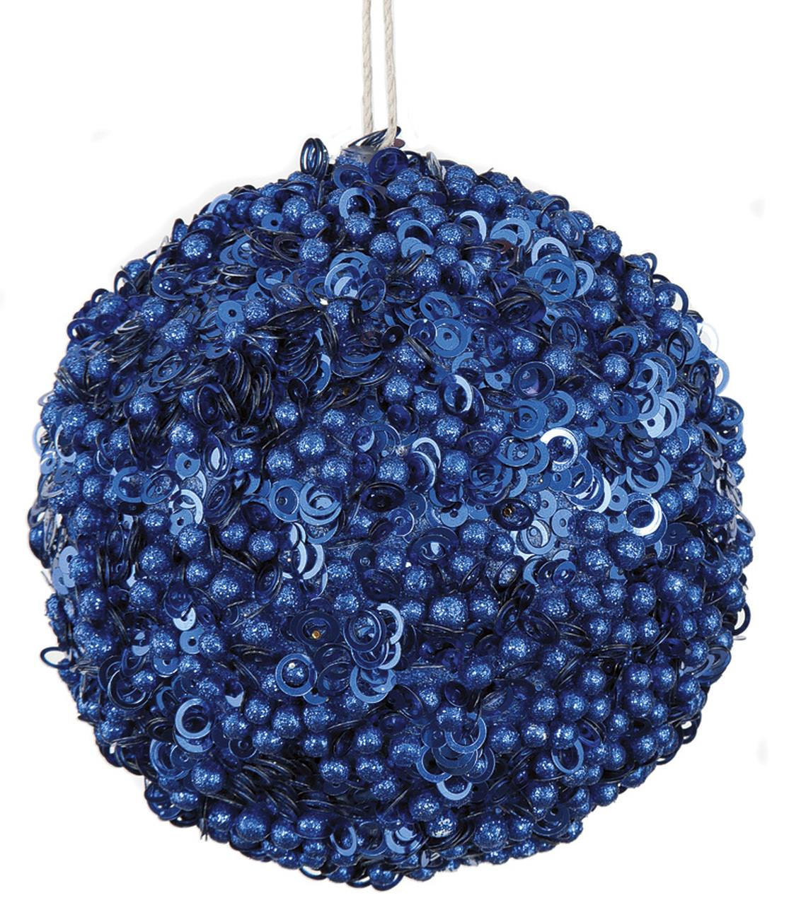 Dark Blue Glitter Ball Ornament - 4'