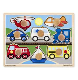Vehicles Jumbo Knob Puzzle - 8 pieces