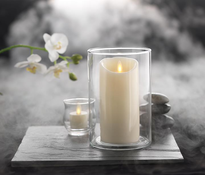 Moving Flame Candle with Timer 3' x 8' - Ivory