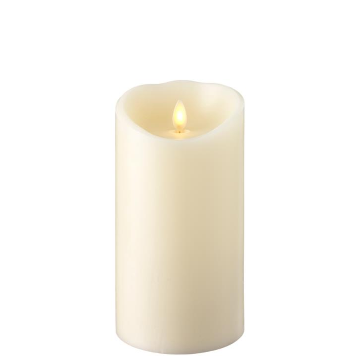 Moving Flame Candle with Timer 4' x 7' - Ivory