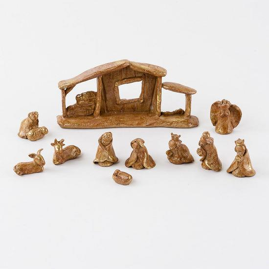 Golden Nativity Set