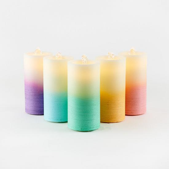 Water Wick Candle - Yellow Ombre