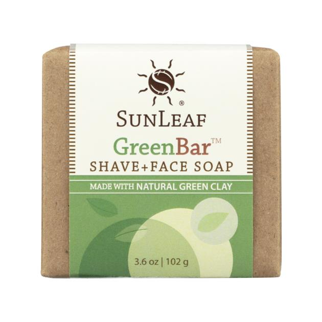 The Green Bar Face & Shave Soap - 3.6 oz