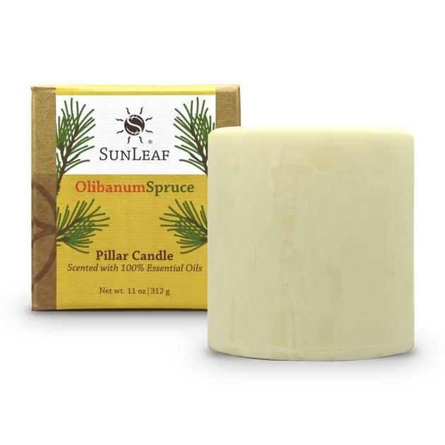 Olibanum Spruce Natural Pillar Candle