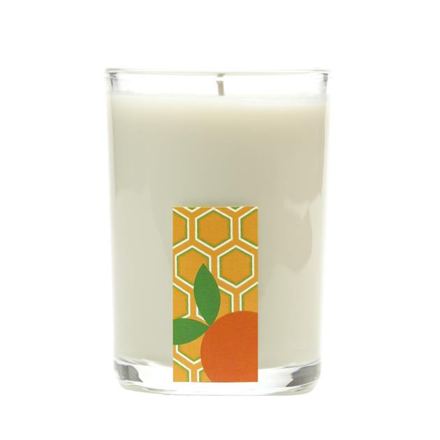 Orange Ginger Glass Candle