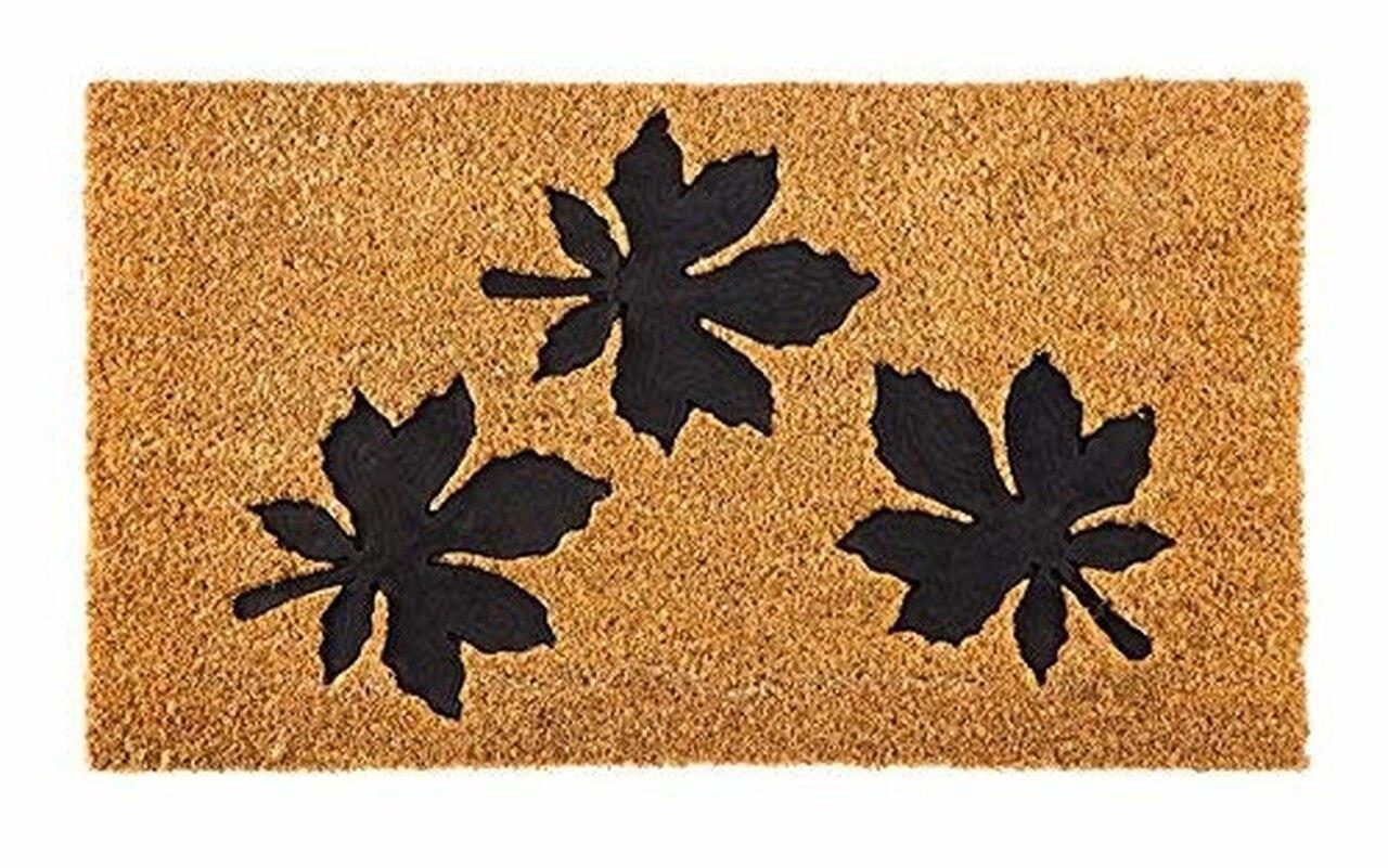 Black Leaf Coir Mat