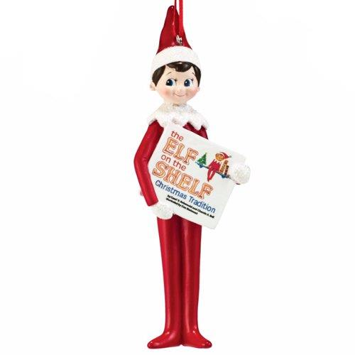 Elf on the Shelf Elf Reading Ornament