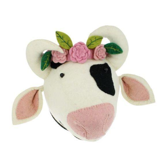 Cow with Flower Headress
