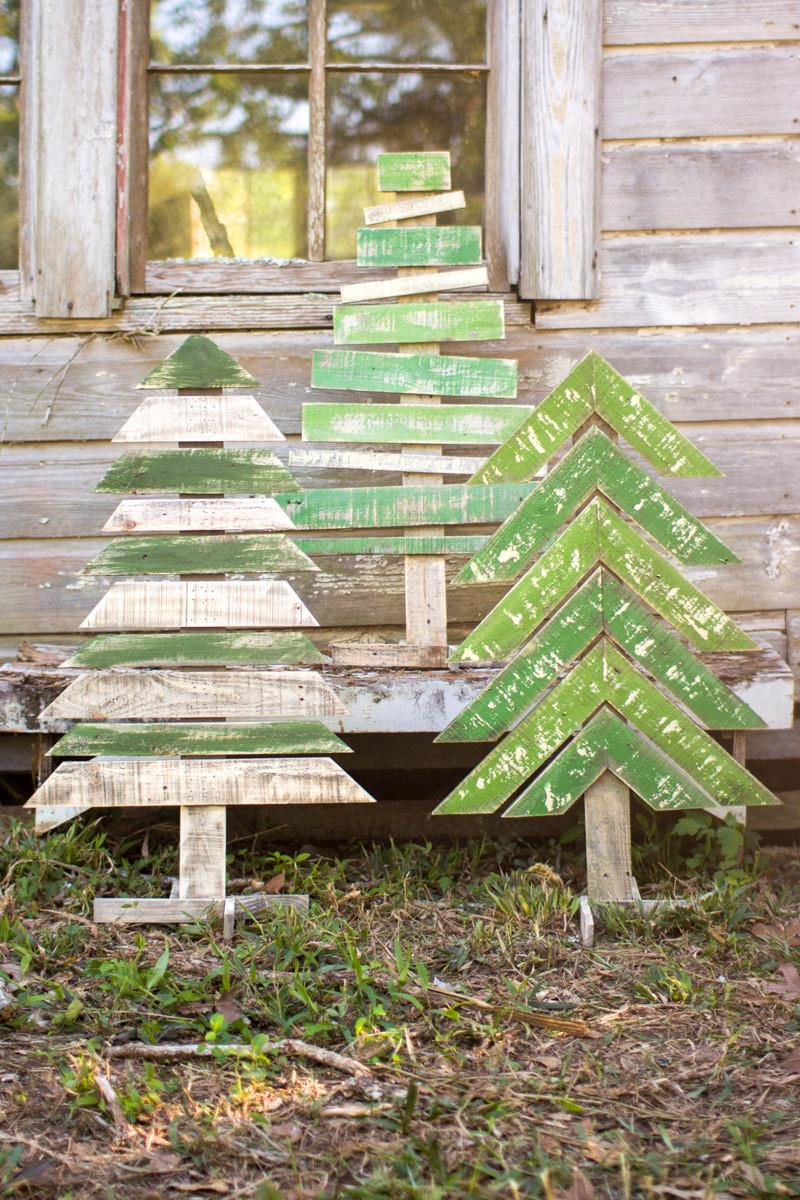 Recycled Wood Christmas Trees