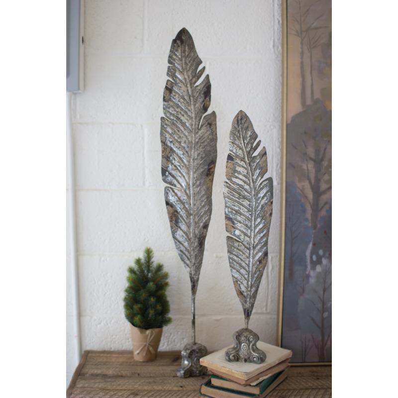 Metal Leaf Sculpture Small
