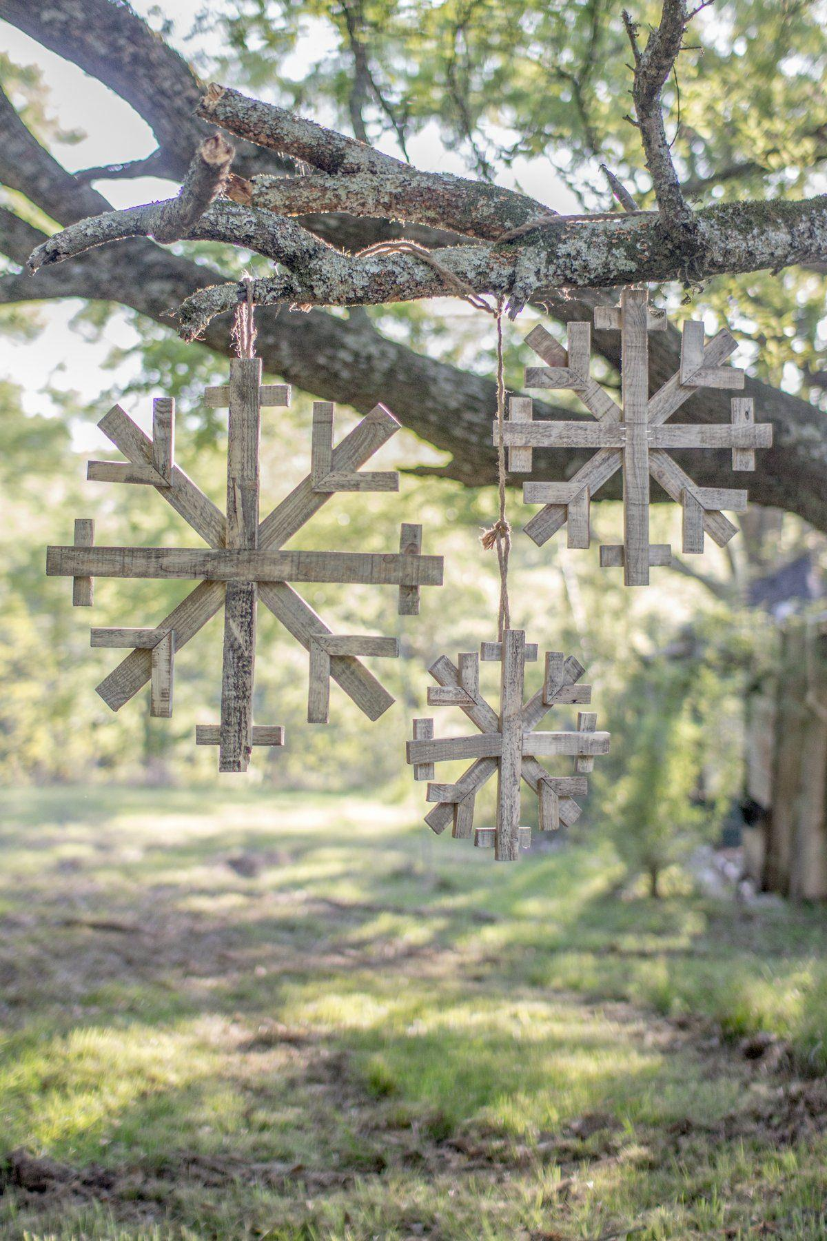 Wood Snowflake - Small