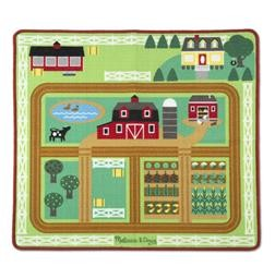 Round the Barnyard Farm Rug