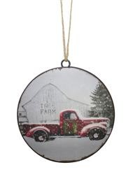 Truck and Tree Farm Ornament