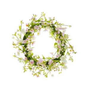 Cherry Blossom Wreath - White/Pink