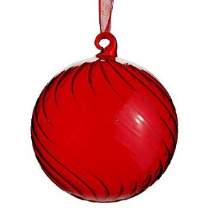 Red Glass Ball Ornament - 4'