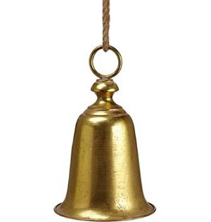 Gold Metal Bell Ornament - 15'