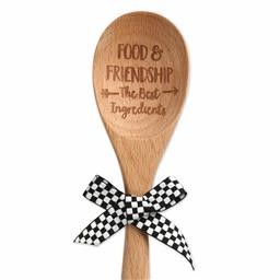 Food & Friendship Wood Spoon