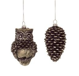 Pinecone or Owl Ornament